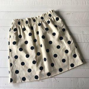 ✨NEW✨ J. Crew Polka dot skirt